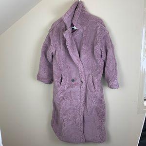 New ultra soft cozy long lavender teddy coat